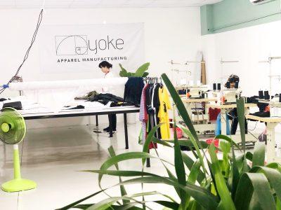 A clothing manufacturer Yoke